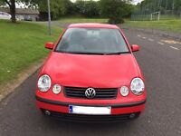 05 Red Volkswagon Polo 3dr hatchback