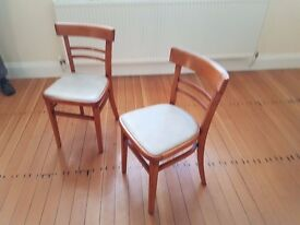 2 kitchen chairs, literally 70's stlke