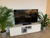 White TV console bench