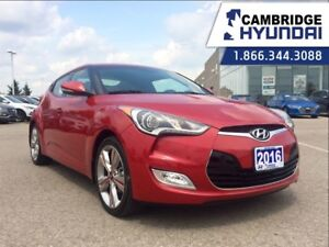 2016 Hyundai Veloster TECH - 1 OWNER - NAV - PANORAMIC SUNROOF