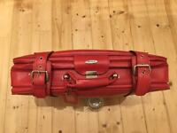 Red Antler Leather Suitcase Luggage Bag Vintage Retro