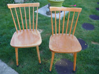 A set of 4 Ercol style dining chairs