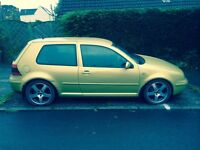 VW GOLF GTI 1998 1800cc 20 valve petrol 3door hatchback 175853 miles gold colour 6 months mot