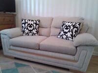 Grey fabric sofa bed in good condition