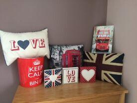 Union Jack theme bedroom accessories