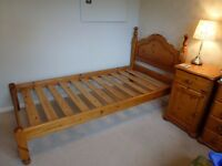 Free Single Pine Bed with mattress