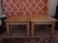 Two Sold Wood Coffee Tables