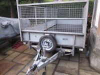 Ifor Williams LT146 Flatbed Trailer VG Condition 2016 with full mesh Sides Incl 8ft Ramps