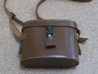 Vintage Compact French 8 x 30 Binoculars with leather case and strap