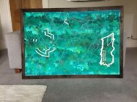 Original, large piece of artwork for sale. Acrylic on canvas, 127 x 89 cm.