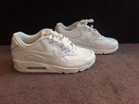Ladies White Air Max Trainers Size 5