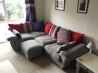 Corner sofa from Harvey's very comfortable in grey