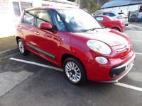 Red Fiat 500L. Great family car. MOT 12 months. Great glass roof.