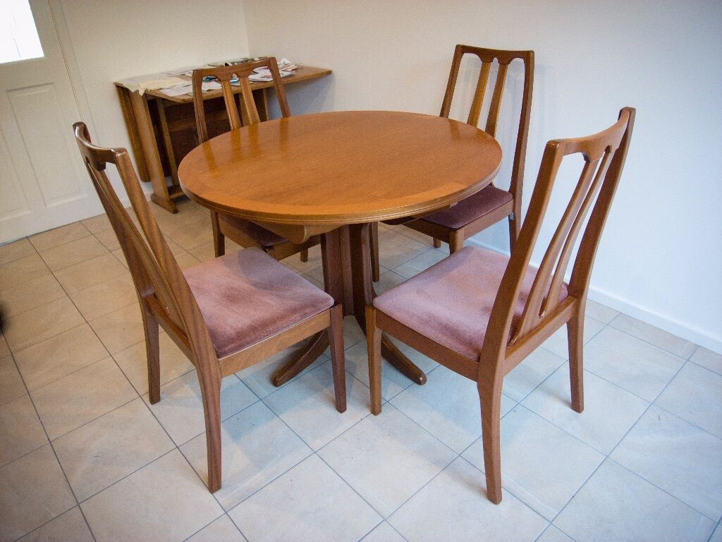 Teak Extending Dining Table Chairs Parker Knoll Mid Century - Parker mid century dining table