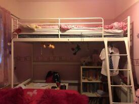Ikea White Metal Loft Bed