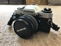 Olympus OM-10 35mm SLR Film Camera with 50 mm lens