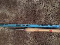 Large wood turning tools, including Henry Taylor and Cornet. From 45-77cm long