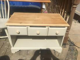 Solid pine shabby Chic Tv Unit