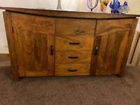 Very solid heavy mango wood furniture