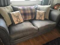 1 x 4 seater, 1 x 3 seater and a large footstool
