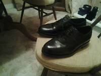 MANS DRESS BLACK SHOES WIDE FIT size 9.5