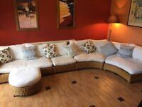 5 piece Wicker Conservatory corner seating set