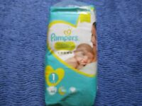 Nappies, Pampers premium protection, No 1, 2-5 kg
