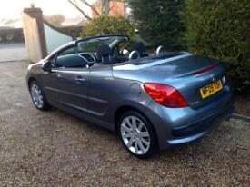 Peugeot 207 convertible only 22000 miles fsh