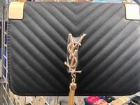 YSL Designer Inspired Handbag Bag Gold White Black