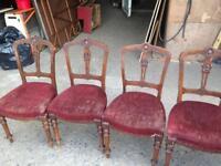 Chairs x4 church