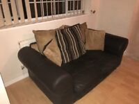 Four and three seater leather sofas