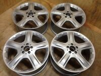 """SET 4 X 19"""" GENUINE MERCEDES ML ALLOY WHEELS A1644011202 FULLY REFURBISHED (WINTER TYRES OPTION)"""
