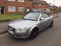 Stunning 2007 Audi A4 2.0 TDI Cabriolet Convertible Sport in Grey Low mileage only 83k Bargain £4250