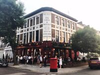 Busy Notting Hill Pub looking for a Kitchen Porter