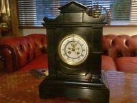 antique french mantle clock. visible escapment. samuel marti