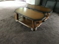 2 x Solid wood Coffee Table's