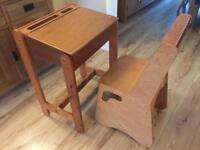 Vintage children's desk and chair