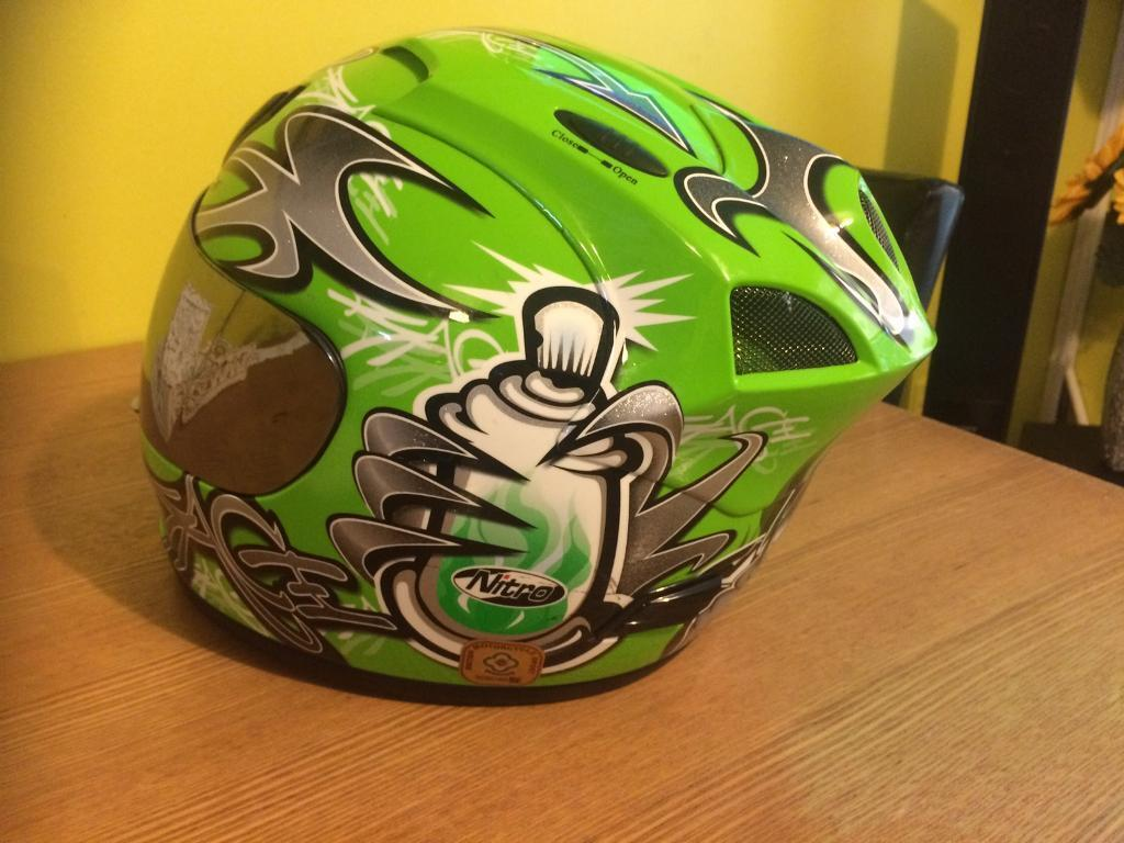 Nitro Crash Helmet Size Min Luton, BedfordshireGumtree - For sale Nitro Crash Helmet size M in good condition with few scratches in visor but this not affect to use it, more info text on 07725160184