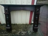 Fireplace mahogany