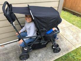 Joovy Caboose Ultralight double buggy lightweight compact stroller pram stand on pushchair board