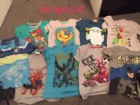 9 x t shirts age 5-6 boys bundle