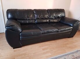 3 Seater DFS real leather sofa