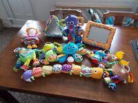 LAMAZE Baby sensory toy bundle 10 Toys Inchworm Dog Octopus Moose Peacock Elephant Robot Emily Doll