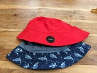 Childs summer hats 2 pack (as new age 3-6)