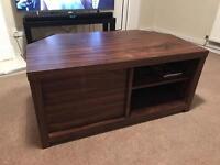 Walnut TV Table Cabinet Corner Unit