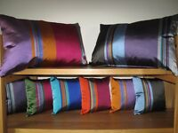 English Woven silk satin in a range of coloured striped available