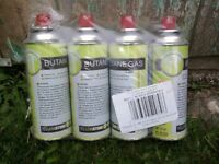 Yellowstone BUTANE GAS BOTTLES CANISTERS FOR PORTABLE STOVES COOKERS GRILL HEATERS Etc: 4 Pack