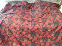 Very rare Liberty 'Clementina' art deco curtains