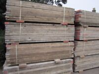 Used wooden scaffold boards 2.4 m x 22cm x 6cm (batons ) for sale £10 each