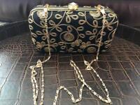 New Black & Gold ladies Evening Formal Clutch Bag